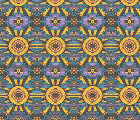 Mexican Sun fabric by siya on Spoonflower - custom fabric