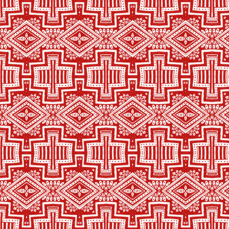 Tuscon Cross fabric by siya on Spoonflower - custom fabric