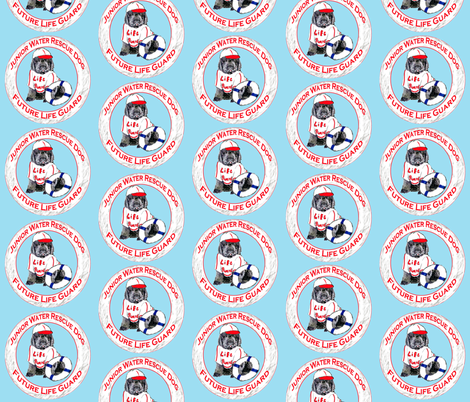 Life Guard Newfoundland Puppy fabric by dogdaze_ on Spoonflower - custom fabric
