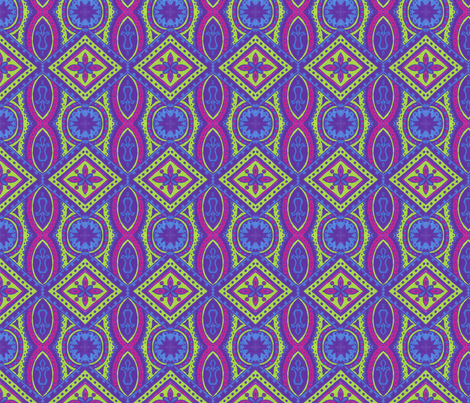 Neon Jenny fabric by siya on Spoonflower - custom fabric