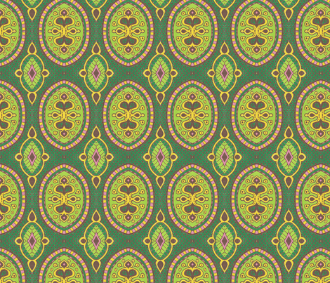 Green Lies fabric by siya on Spoonflower - custom fabric