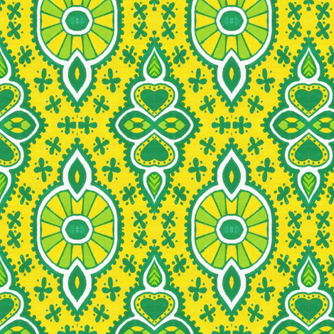 Fancy Lemons fabric by siya on Spoonflower - custom fabric
