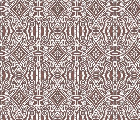 Brown Owl Saloon fabric by siya on Spoonflower - custom fabric