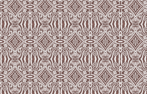 Brown Owl Saloon fabric by siya on Spoonflower - custom fabric