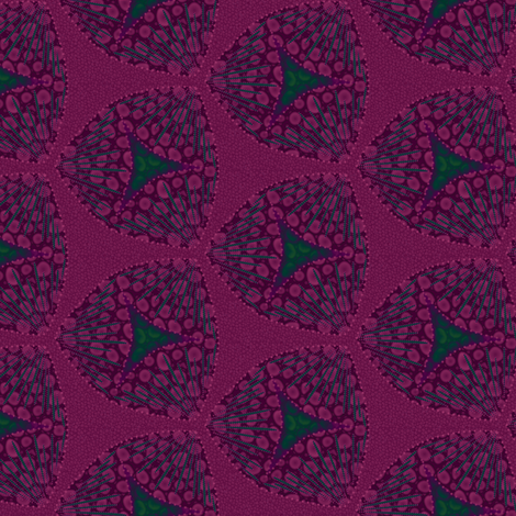 scales raspberry fabric by glimmericks on Spoonflower - custom fabric