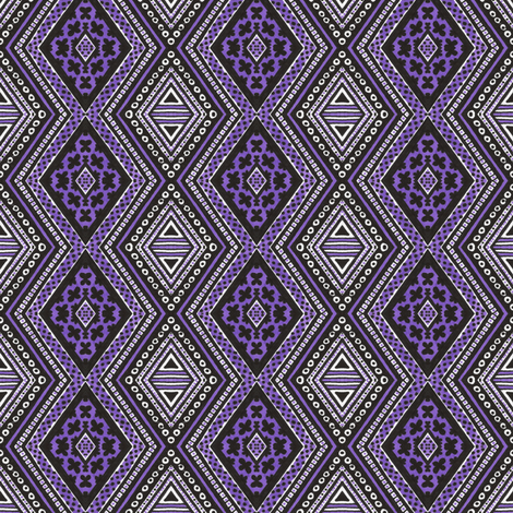 Ultraviolet Diamonds fabric by siya on Spoonflower - custom fabric