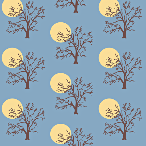 Tree Moon fabric by amy_frances_designs on Spoonflower - custom fabric