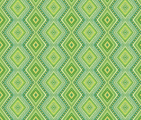 Kiwi Diamonds fabric by siya on Spoonflower - custom fabric