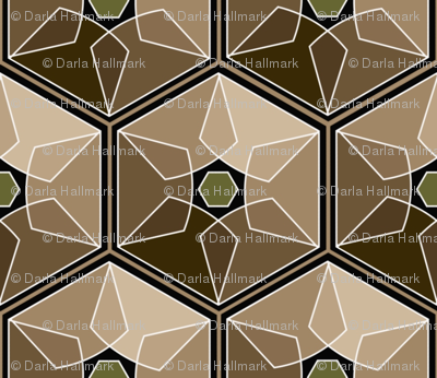 geometric earth tones