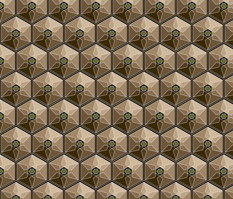 geometric earth tones fabric by hannafate on Spoonflower - custom fabric