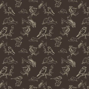 Bird Toile (black and white)