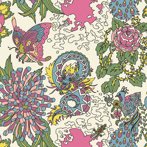 Old Tattoos  fabric by teja_jamilla on Spoonflower - custom fabric