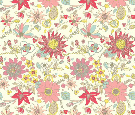Varied Floral  fabric by teja_jamilla on Spoonflower - custom fabric