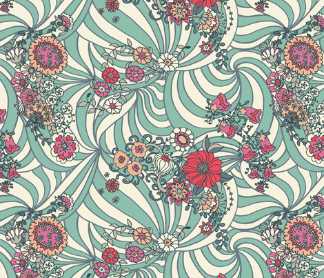 Tribal Flowers  fabric by teja_jamilla on Spoonflower - custom fabric