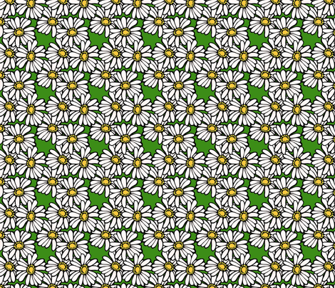 field of daisies fabric by hannafate on Spoonflower - custom fabric