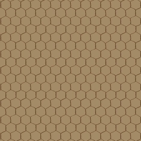 chicken_wire_cream_brown fabric by stacyiesthsu on Spoonflower - custom fabric