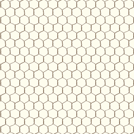 chicken_wire_cream fabric by stacyiesthsu on Spoonflower - custom fabric