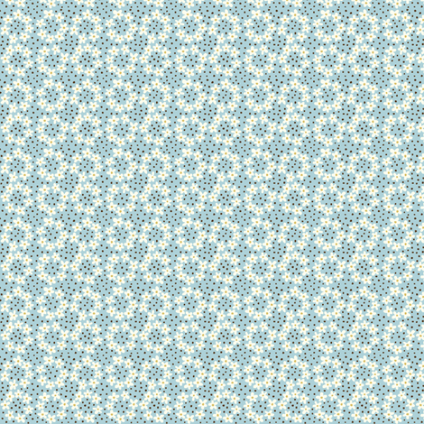 Ring_of_Flowers_blue fabric by stacyiesthsu on Spoonflower - custom fabric