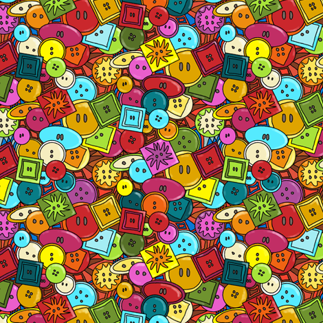 button graffiti  fabric by scrummy on Spoonflower - custom fabric