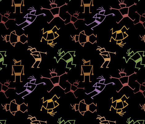 petroglyph man fabric by hannafate on Spoonflower - custom fabric