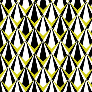 Deco Geometric Yellow Medium