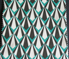 Deco Geometric Teal Medium