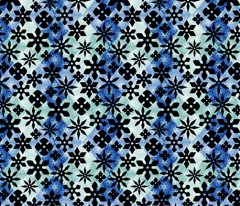 Shuriken - Blue fabric by siya on Spoonflower - custom fabric
