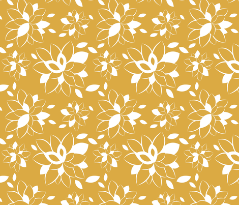 Curry Bloom fabric by tradewind_creative on Spoonflower - custom fabric