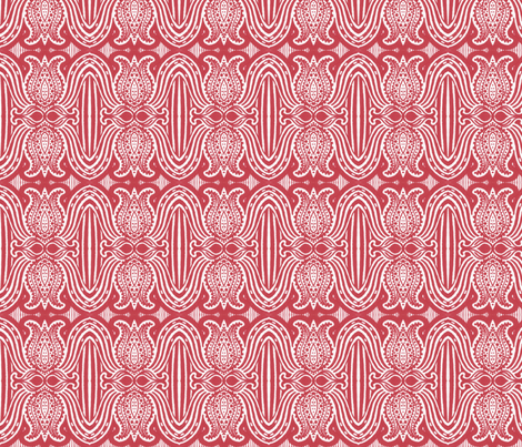 Paisley Tulips fabric by siya on Spoonflower - custom fabric