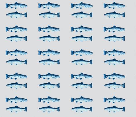 Trout Fishing Blues fabric by theupstartstudio on Spoonflower - custom fabric