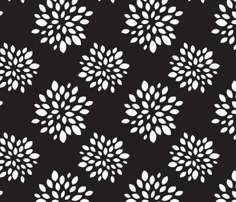Graphite Succulent fabric by tradewind_creative on Spoonflower - custom fabric