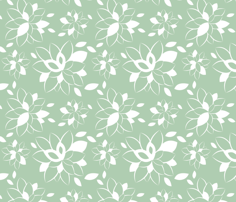 Robin Bloom fabric by tradewind_creative on Spoonflower - custom fabric