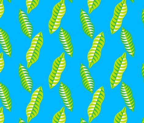 Mangosteen Leaves (Small) fabric by nekineko on Spoonflower - custom fabric