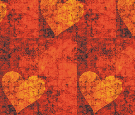 Graffiti Hearts, L fabric by animotaxis on Spoonflower - custom fabric