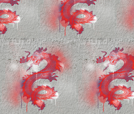 Dragon Graffiti, L fabric by animotaxis on Spoonflower - custom fabric