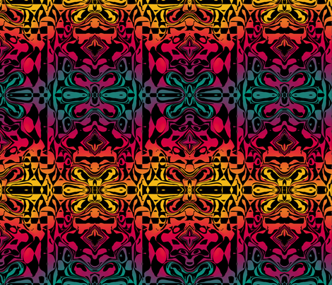 Psychedelic Graffiti 1, L fabric by animotaxis on Spoonflower - custom fabric