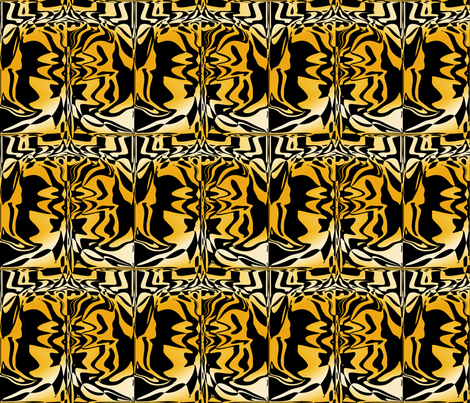 Golden Graffiti, L fabric by animotaxis on Spoonflower - custom fabric