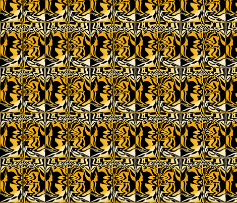 Golden Graffiti, S fabric by animotaxis on Spoonflower - custom fabric