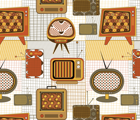 Vintage Screens fabric by demigoutte on Spoonflower - custom fabric