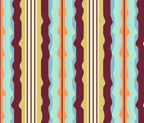 orange_stripes fabric by gsonge on Spoonflower - custom fabric