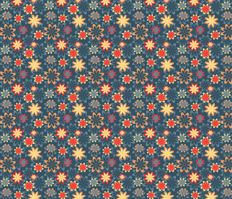 Desert Bloom fabric by cheerfulmadness_cartoons on Spoonflower - custom fabric