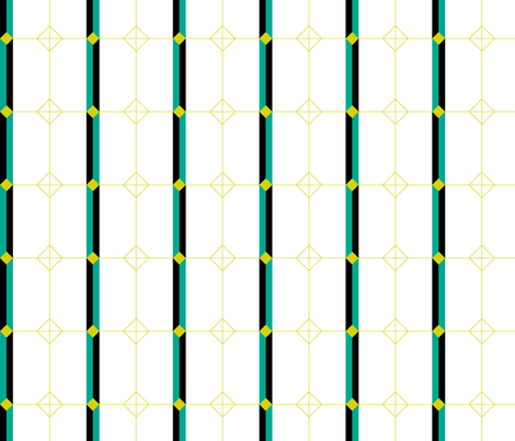 Deco Geometric Stripe fabric by modgeek on Spoonflower - custom fabric