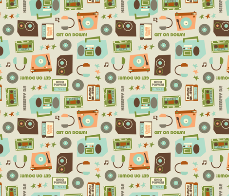 heeeeey dj! fabric by amel24 on Spoonflower - custom fabric