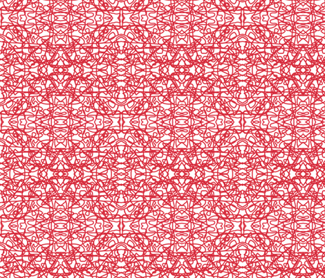 Random red rope on white fabric by su_g on Spoonflower - custom fabric
