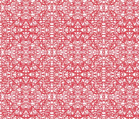 Random red rope on white by Su_G
