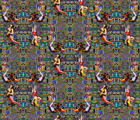 Trapeze Artist fabric by whimzwhirled on Spoonflower - custom fabric