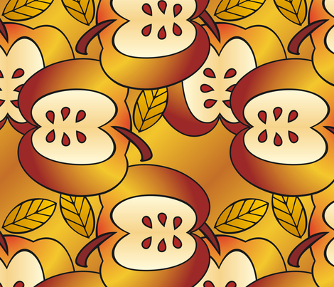 Gigantic golden apples fabric by hannafate on Spoonflower - custom fabric