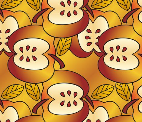Gigantic golden apples fabric by hannafate on Spoonflower - custom fabric