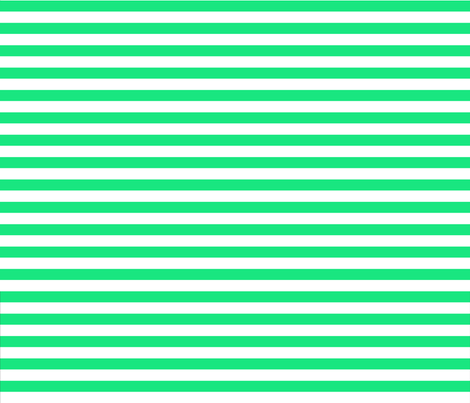 horizontal green and white stripe half inch fabric by georgeandgracie on Spoonflower - custom fabric