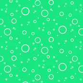 white bubbles on green